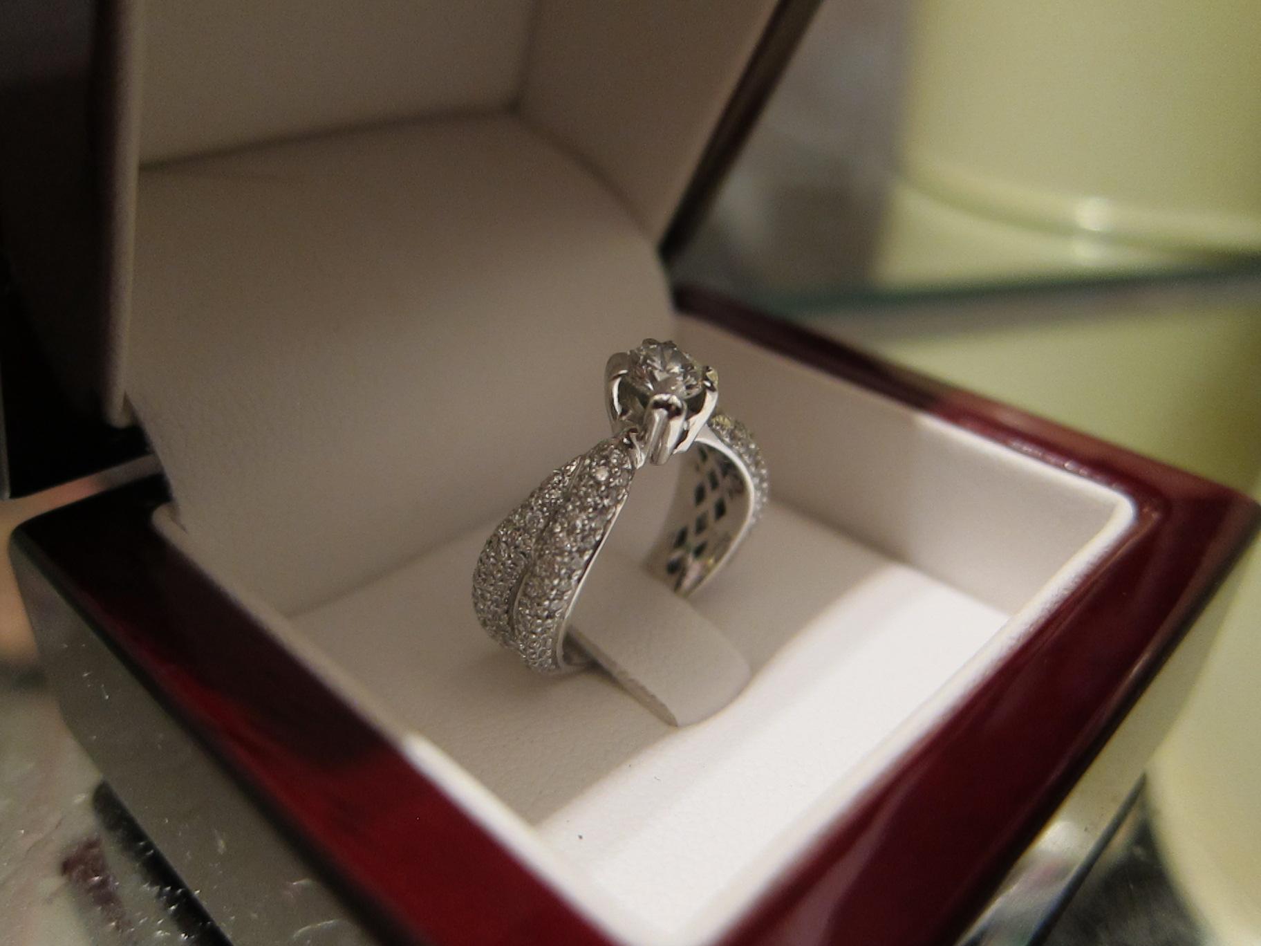 кольца бриллиантовые фото